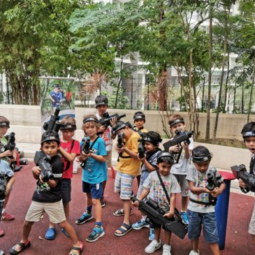 an ultimate laser tag party for a group of kids